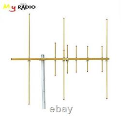 Yagi Antenna &8 Elements Stainles Dual Band Radio Repeater 100W High Gain Aerial